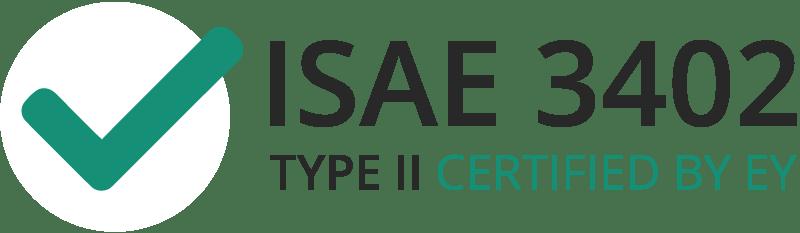 Vi är ISAE 3402 Typ 2-certifierade